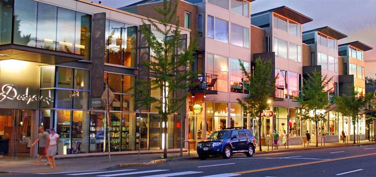 Mixed use transit oriented development in Portland, Oregon