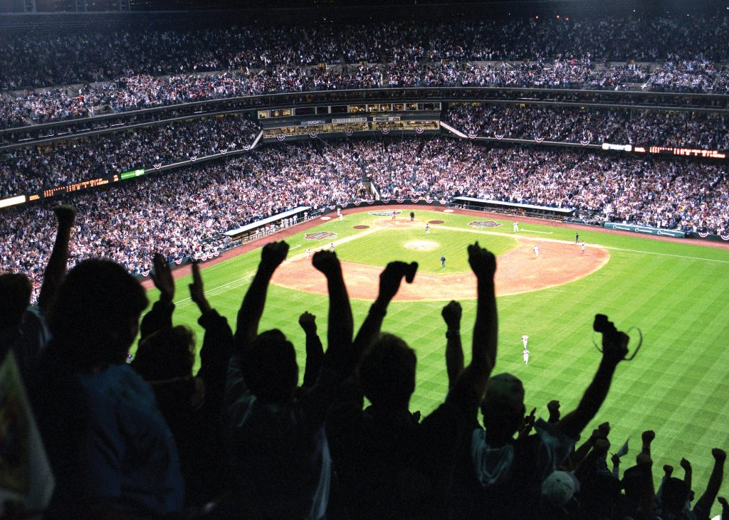 Fans at Coors Field