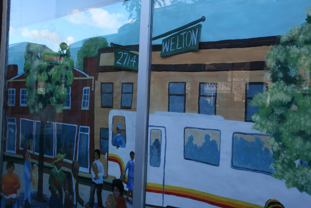 Mural along Welton Corridor