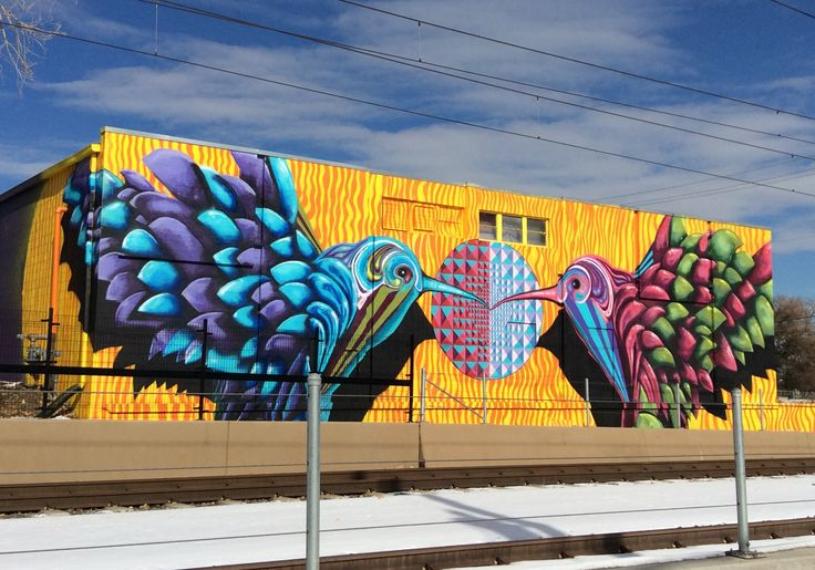 Mural along W Line, West Colfax neighborhood of Denver