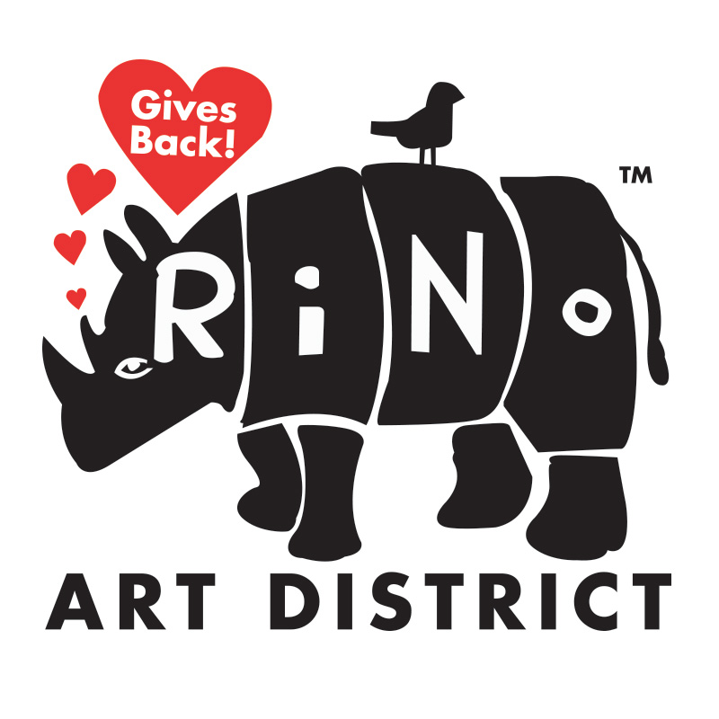 Sign for RINO neighborhood event