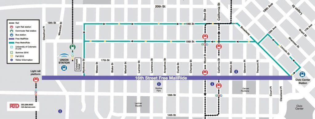 The 16th Street Mall Talking About Denver S Rail Volution Rail