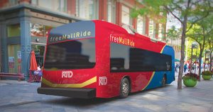 All-Electric Free MallRide Bus