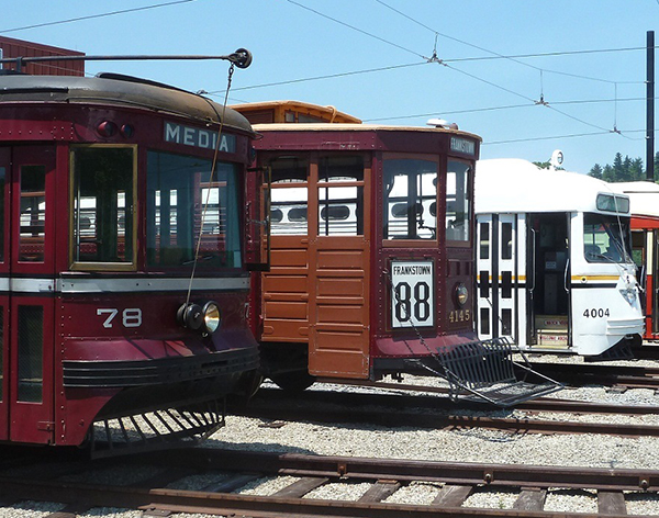 Three trolleys