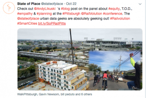 Tweet State of Place TOD equity
