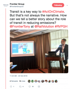 Tweet - transit and climate