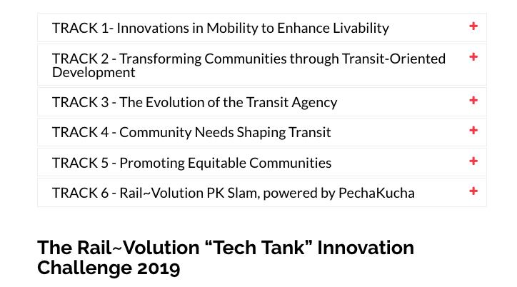 2019 Tracks and Innovation Challenge